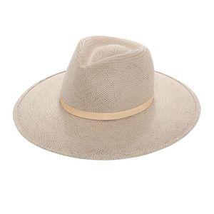 Janessa Leone Valentine Packable Straw Hat Grey